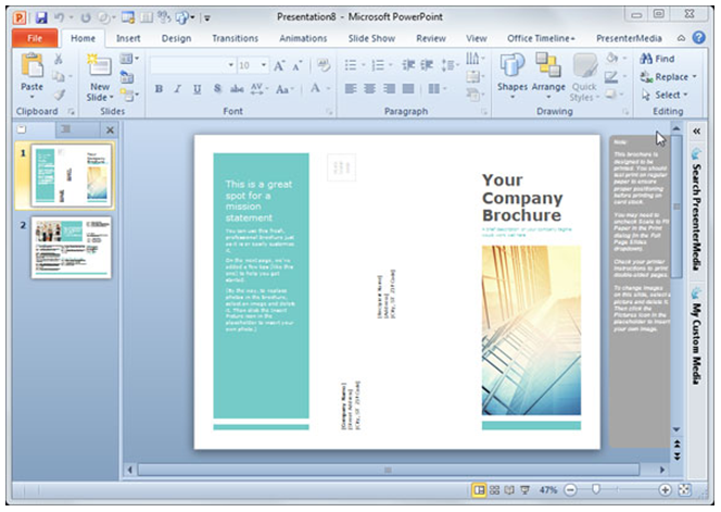 powerpoint brochure template tri fold