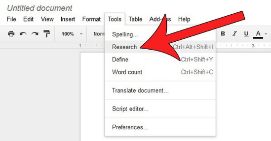 Defining Words And Searching Topics Within Google Docs